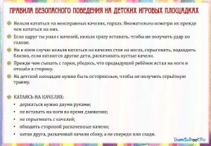 Плакат Правила безопасного поведения летом