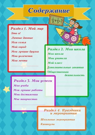 Шаблон Портфолио для начальной школы