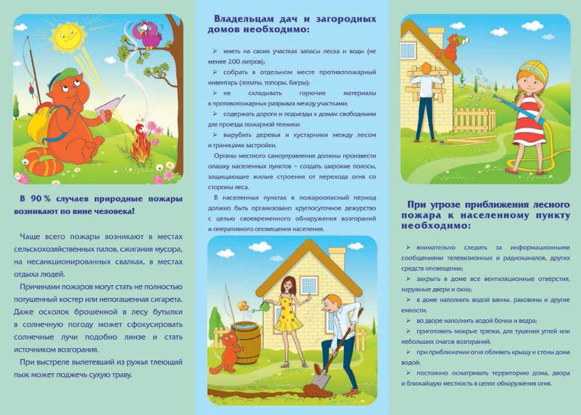 Плакат Как защитить себя и свой дом от природного пожара