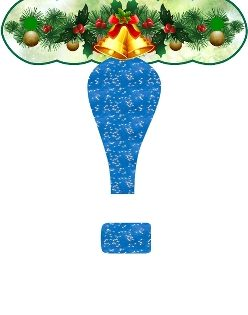 Буквы бумажные с новым годом