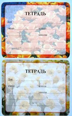 Наклейка на тетрадь